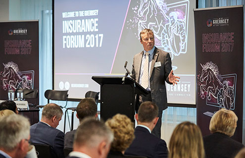 1634740e97e184 Attendees of the Guernsey Insurance Forum heard how important it is for  different parts of the industry to work together not only to co-exist